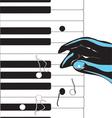 Hand playing pianovs vector