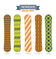 Girlish prints for snowboards vector