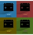Color setcar battery flat modern web button with vector