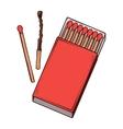 Top view red matchbox vector
