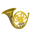 French horn woodwind musical instrument vector