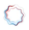 Abstract bright wavy logo ring vector
