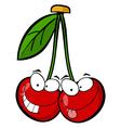 Red cherry mascot cartoon character vector