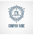 Monogram logos vintage concepts vector