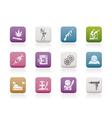 Mafia and organized criminality activity icons vector