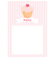 Restaurant menu pink strips retro card vector