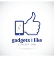 I like gadgets abstract concept icon vector