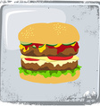 Food and drink theme burger vector