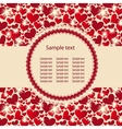 Hearts background ith sample text vector