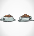 Animal food bowl vector