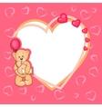 Cute valentine teddy bear vector