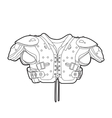 Football shoulder pads vector