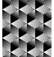 Monochrome abstract geometric seamless pattern vector