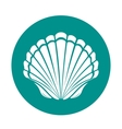 Scallop sea shell vector