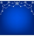 Hanging snowflakes vector