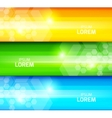 Set of lined banners vector