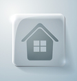 Glass square icon with highlights home vector