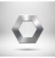 Abstract polygon button template vector