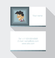 Modern business card template in blue color vector