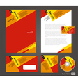 Professional corporate identity red yellow brown vector