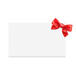 Blank gift tag with bow vector