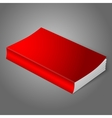 Realistic bright red blank softcover book isolated vector