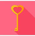 Heart shaped key vector