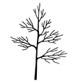 Abstract art tree black color vector