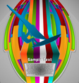 Summer sport design series windsurfing theme vector