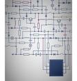 Electrical circuit diagram vector