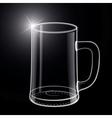 Empty beer glass vector