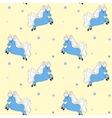 Little blue horse vector