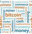 Bitcoin text seamless pattern vector