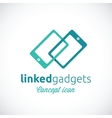 Linked gadgets abstract concept icon vector