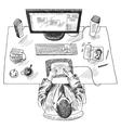 Designer work place vector