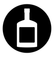 Bottles of cognac button vector