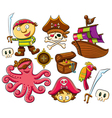 Pirate collection set vector