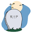 Stone rip headstone in a cemetery vector
