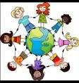 Children of the world vector