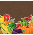 Background design with fresh ripe stylized vector
