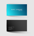 Modern blue minimalistic business card template vector