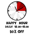 Happy hour banner vector