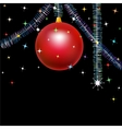 Red bauble vector
