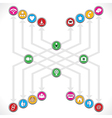 Social network icons mage a group vector