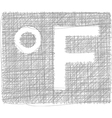 Fahrenheit freehand symbol vector