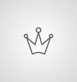 Crown outline symbol dark on white background logo vector