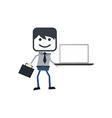 Businessman presentation theme vector