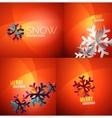 Modern abstract christmas card set vector