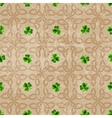Celtic background with clover vector