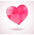 Pink geometric heart vector